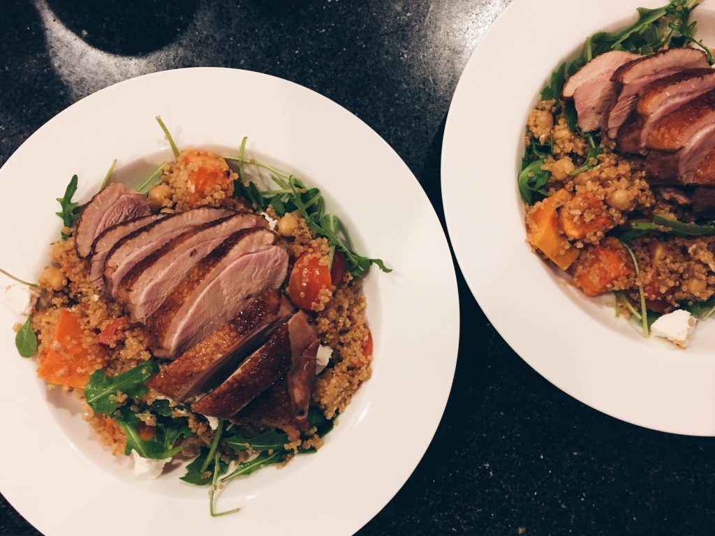 Roast Duck Breast Salad