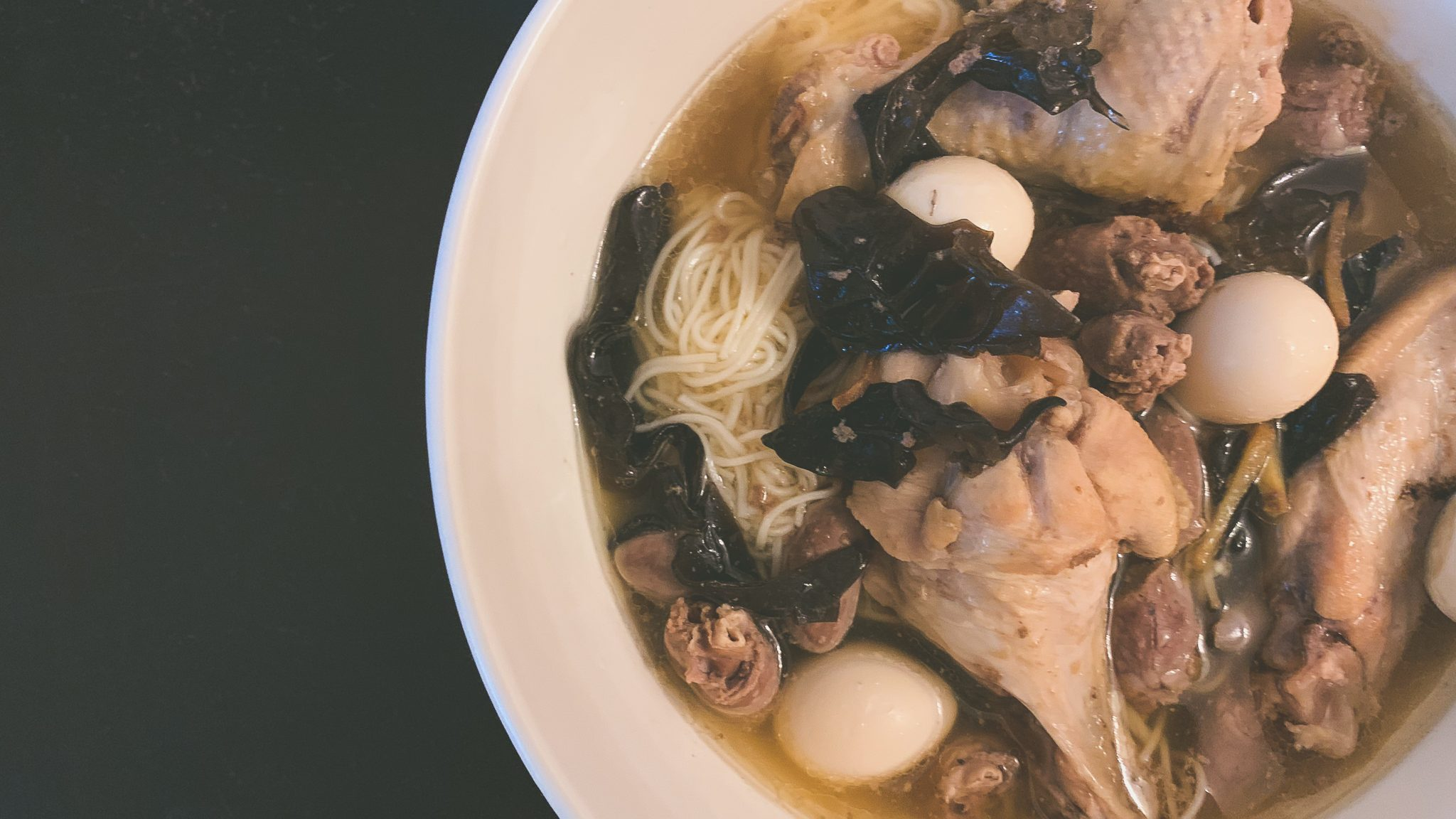 Chinese Wine Chicken Noodle Soup